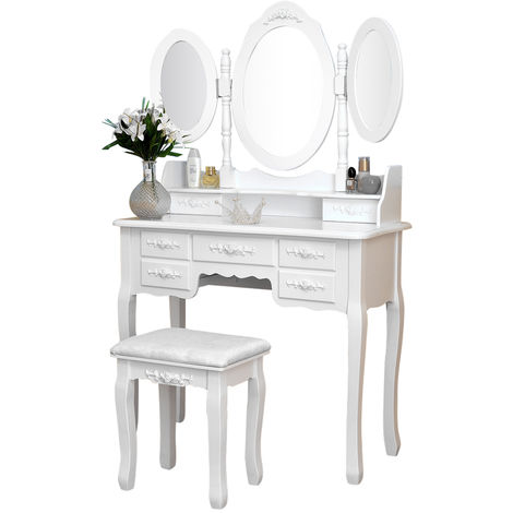 Dressing table with 7 drawers mirror chest of drawers dressing table mirror