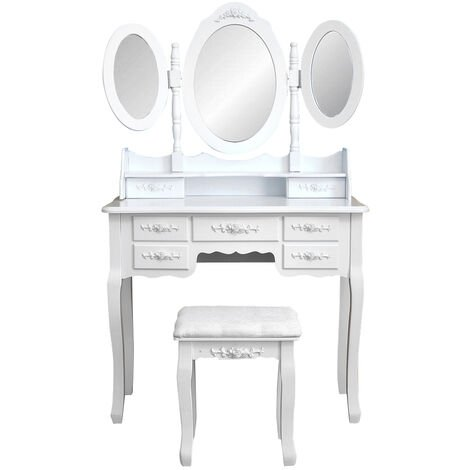 """main image of """"Dressing table with 7 drawers mirror chest of drawers dressing table mirror"""""""
