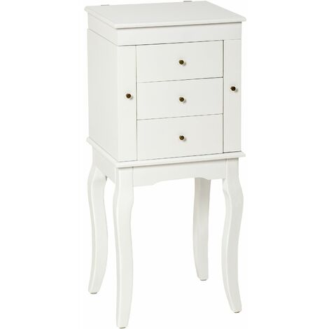 Dressing table with mirror and drawers - chest of drawers, dressing table mirror, white dressing table - white
