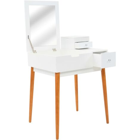 Dressing Table with Mirror MDF 60x50x86 cm - White