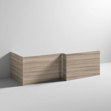 Driftwood 700mm Square Shower Bath End Panel