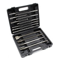 Drill Bits and Chisel Set SDS chisel hammer drill tile chisels 13 pieces