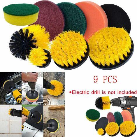 Drill Brush Scrub Pads Kit de nettoyage Power Scrubber 8 pièces - Multicolore