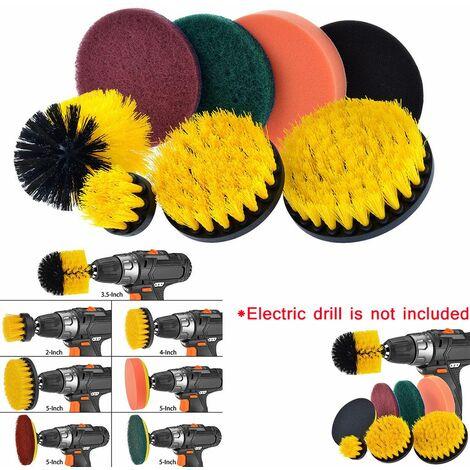 Drill Brush Scrub Pads Kit de nettoyage Power Scrubber 8 pièces Multicolore - Multicolore