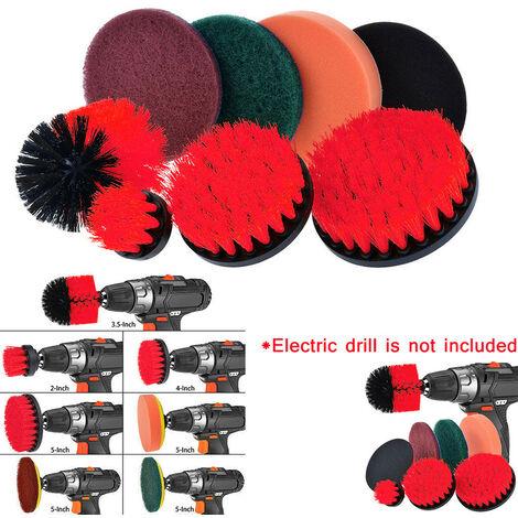 Drill Brush Tampons à récurer Kit de nettoyage Power Scrubber 8 pièces Nettoyant tout usage S