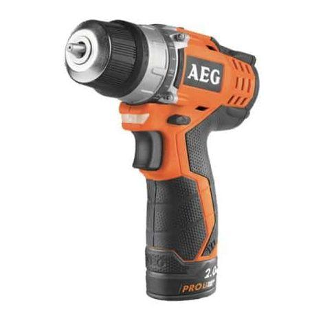 Drill-driver AEG 12V Prolithium-ion - 2 baterías 2.0Ah - 1 cargador 40mins - BS12C2 LI-202B