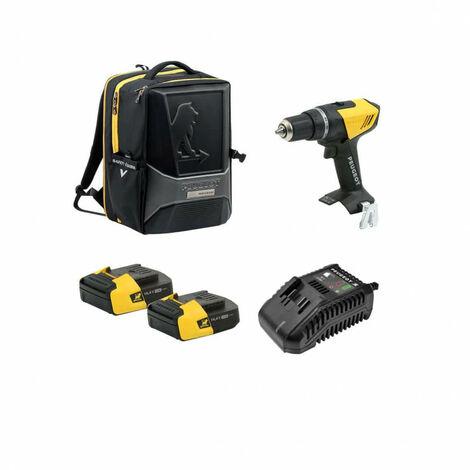 Drill Pack PEUGEOT ENERGYDRILL-14V15 - 2 baterías 14.4V 1.5 Ah - 1 cargador - mochila PERFORMER 250310-250307