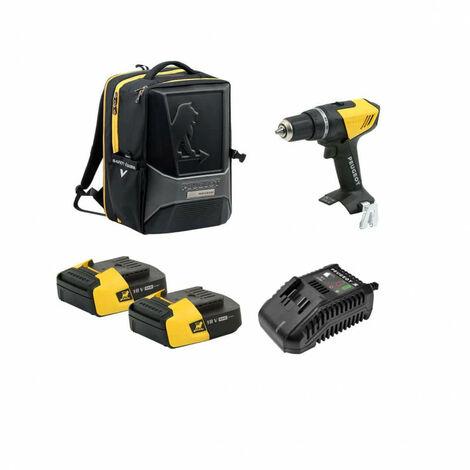 Drill Pack PEUGEOT ENERGYDRILL-18V20 - 2 baterías 18V 2.0 Ah - 1 cargador - mochila PERFORMER 250312-250307
