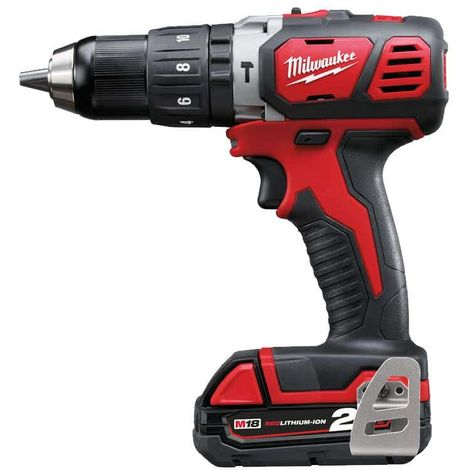 Drill Percussion Milwaukee M18 BPD-202C - 2 Batteries 18V Li-Ion 2.0Ah - 1 Charger 4933443515