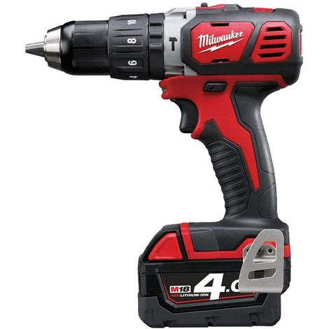 Drill Percussion Milwaukee M18 BPD-402X - 2 Batteries 18V Li-Ion 4.0Ah - 1 Charger 4933446192