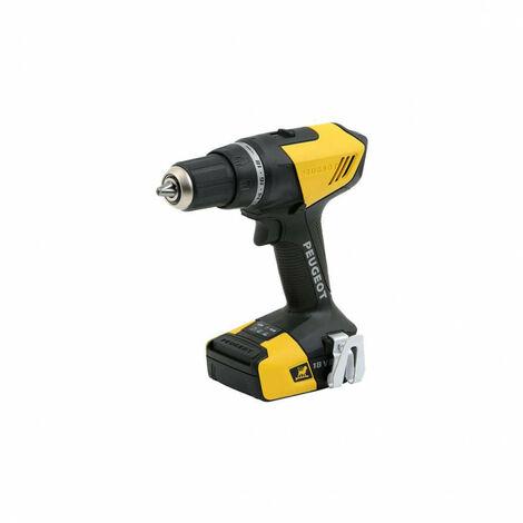 Drill PEUGEOT ENERGYDRILL-18V20 - 2 batteries 18V 2.0 Ah - 1 charger 250312