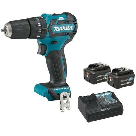 Drill screwdriver with brushless percussion MAKITA 12V CXT - 2 batteries BL1040B 4.0Ah - 1 charger DC10SA HP332DSMJ