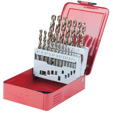 Drill set KS TOOLS - 19 pcs - 330.3610