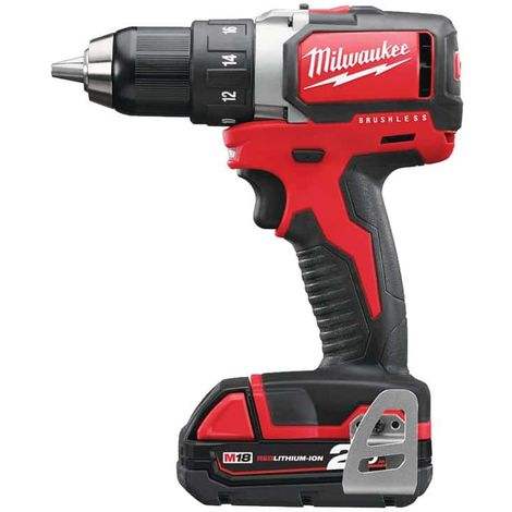 Drilling machine Milwaukee Brushless M18 BLDD-202C - 2 batteries 18V 2.0Ah - 1 charger 4933448441