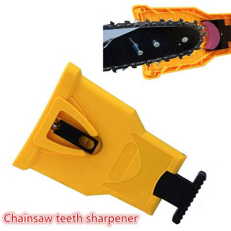 Drillpro Afilador de dientes de motosierra Herramientas de pulido autoafilables Afilado de madera + Muela abrasiva