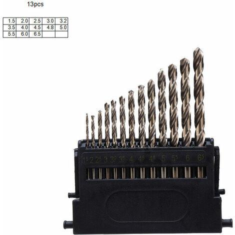 Drillpro M42 HSS 3 juego de brocas helicoidales con cabezal de corte 8% broca de alto cobalto para taladrar metal de acero inoxidable