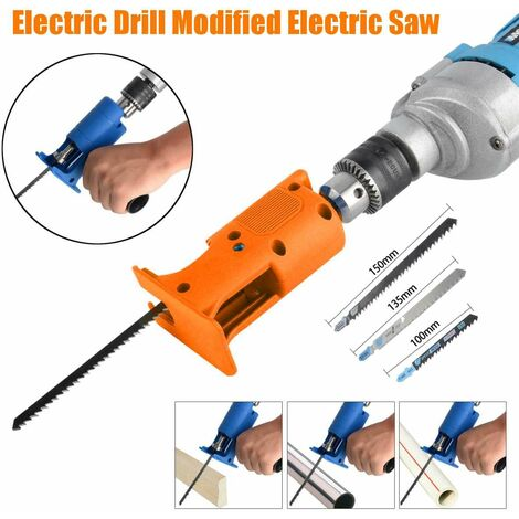 Drillpro Reciprocating Saw Adapter Change Electric Drill for Cutting Wood and Metal