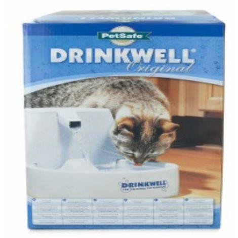 Drinkwell Haustier Trinkbrunnen (Einheitsgröße) (Weiß)