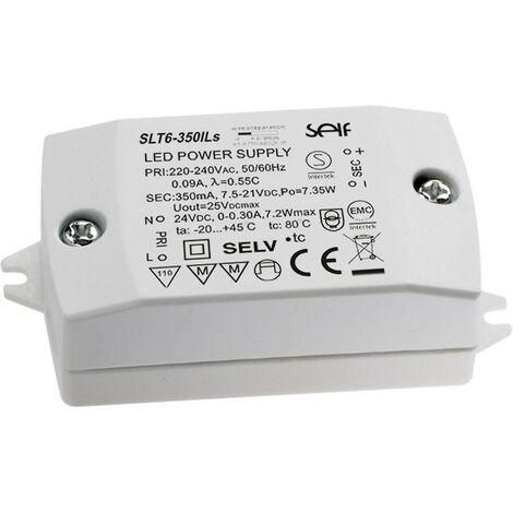 Driver de LED à tension constante, à courant constant Self Electronics SLT6-350ILS SLT6-350ILS 7.94 W, 7.31 W 350 mA 7.