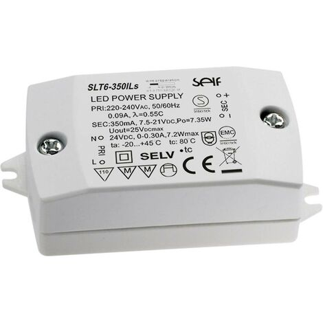 Driver de LED à tension constante, à courant constant Self Electronics SLT6-700ILS SLT6-700ILS 6.30 W 644 - 756 mA 3.0,