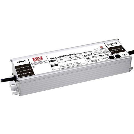Driver de LED à tension constante Mean Well HLG-240H-24AB HLG-240H-24AB 240 W 5 - 10 A 22.4 - 25.6 V/DC 1 pc(s)