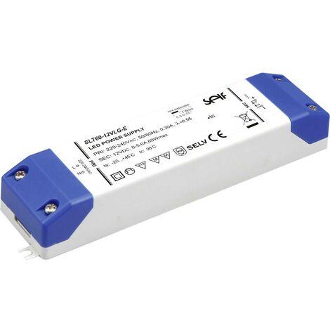 Driver de LED à tension constante Self Electronics SLT60-12VLG-E SLT60-12VLG-E 60 W 0 - 5 A 12.0 V/DC 1 pc(s)