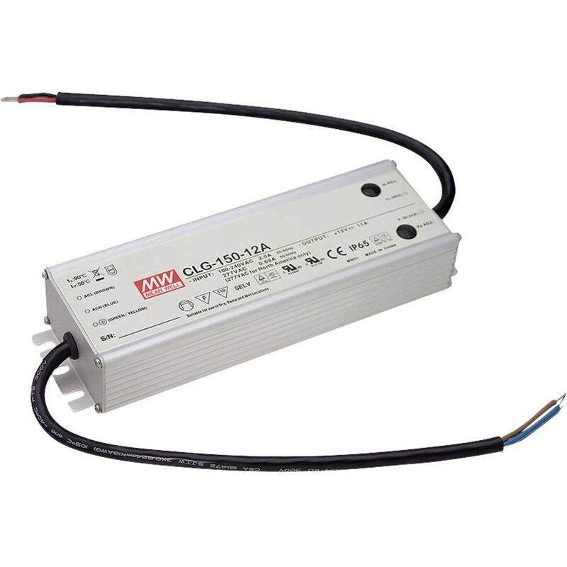 CLG-150-12A Driver per LED, Trasformatore per LED Tensione costante, Corrente costante 132 W 0 - 11 A 12 V/DC - Mean Well