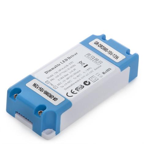 Driver Regulable 0-10V Plafón / Placa /Downlight LED 12W (GR-DRDIM0-10V-12W)