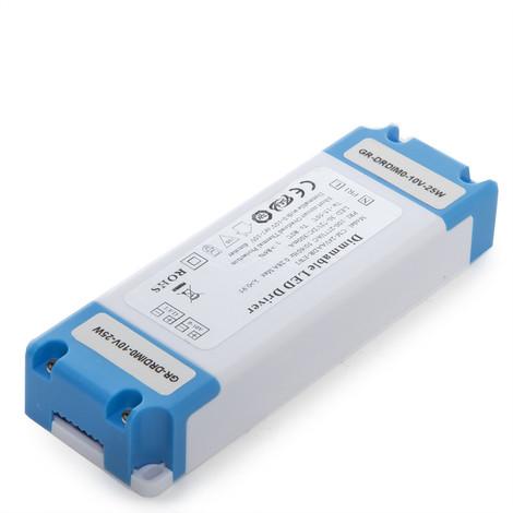 Driver Regulable 0-10V Plafón / Placa /Downlight LED 25W (GR-DRDIM0-10V-25W)