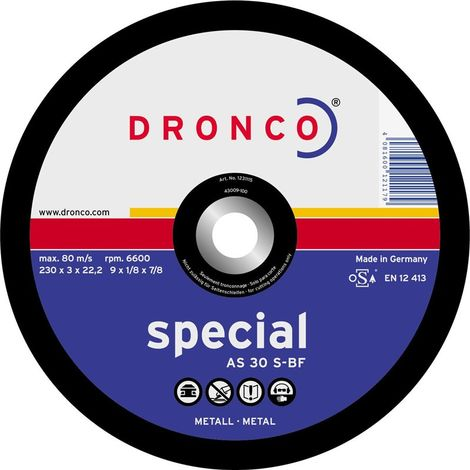 Dronco - Disco de corte AS 30 S Special-metal
