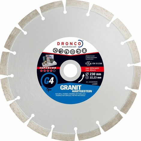 Dronco - Disco de diamante Superior G4 - Granito (Antes LT36)