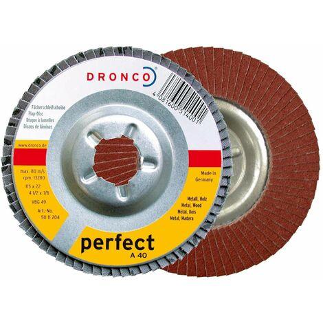 Dronco - Discos de láminas abrasivas óxido de aluminio A