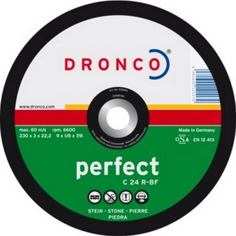 """main image of """"Dronco Flat Stone Cutting Discs Pack-25 115mm x 3mm x 22.2mm 1115015"""""""