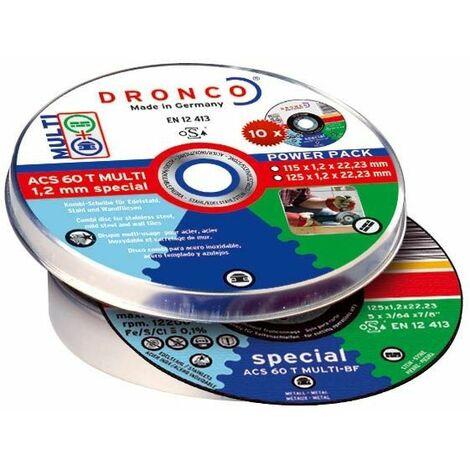 Dronco - Pack de discos de corte ACS 60 T Multi Special