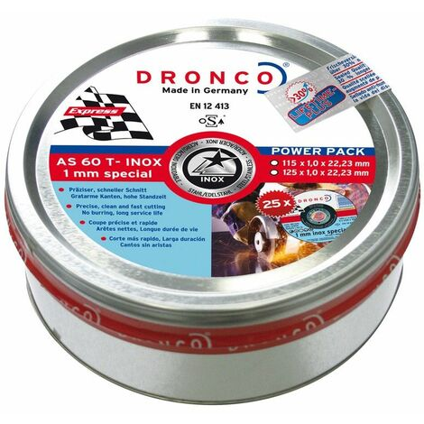 Dronco - Pack de discos de corte AS 60 T INOX Special Express LIFETIME PLUS