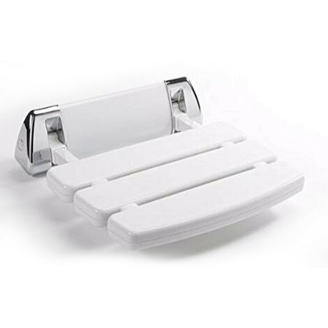 Drop Down Shower Seat White/Chrome