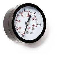 """Druckanzeige Druckbehälter/ Manometer axial DN8 (1/4"""""""") 12.9mm 0-10bar 0-140 PSI Durchmesser ~50mm"""