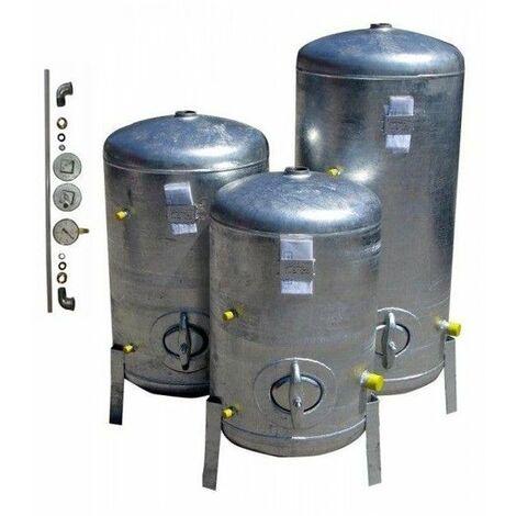 Druckbehälter 100L bis 300L mit Zubehör 9 bar senkrecht verzinkt Druckkessel verzinkt für Hauswasserwerk senkrecht