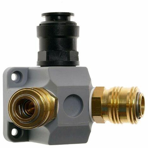 Druckluft-Endverteiler EMSK 15-2, Ø 15 mm, Grau, Kunststoff