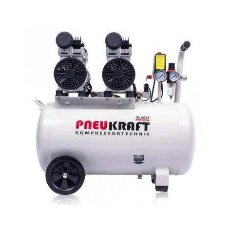 Druckluft Kompressor Kolbenkompressor 50L Ölfrei Silent Airbrush 65dB Leise