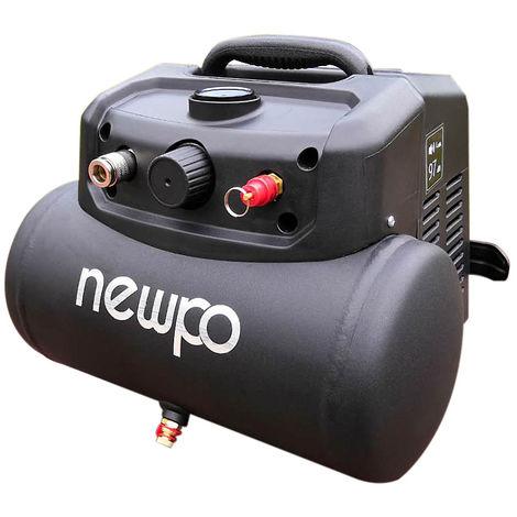Druckluftkompressor | 6 l | Ölfrei | newpo Druckluft Pressluft
