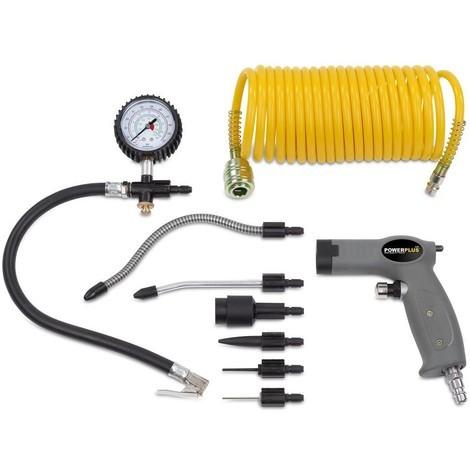 Druckluft Schlauch Spiralschlauch 10 M Schnellkupplung Kompressor Air Horse Neu Air Tools Ebay Motors