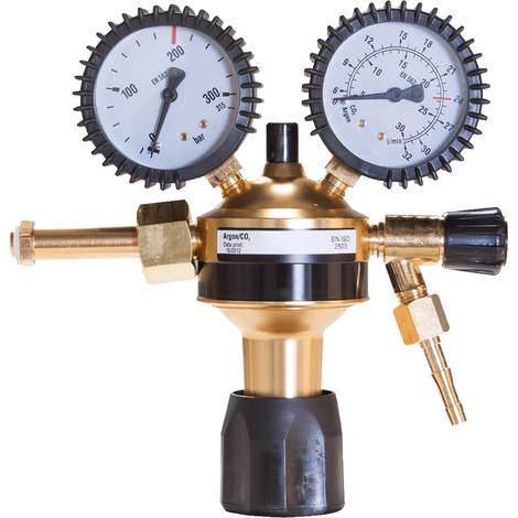 Druckminderer Argon/CO2 Eco mit 200 bar Eingangsdruck und 0-32 L/min Durchflussmenge, Gas Druckregler einstufig für MIG MAG WIG Schutzgas Wilpeg - 4390