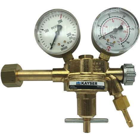 Manometer für Druckminderer 32L Argon CO2 Schutzgas M12x1,5  mit Gummischutz