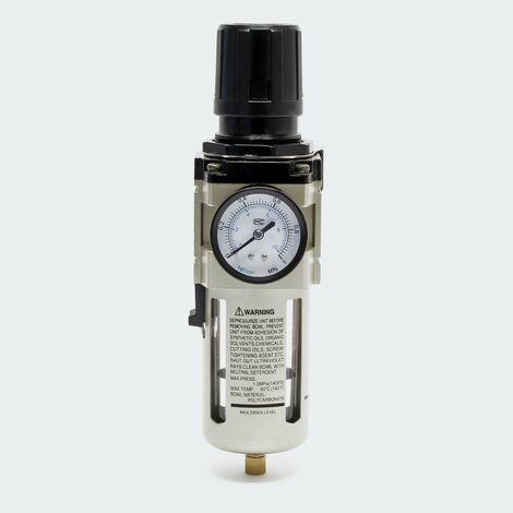 """Druckminderer mit Filter und Manometer 20,67 mm (1/2"""") IG Druckregler"""