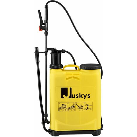 Drucksprüher DSF16L 16 Liter Kunststoff – Drucksprühgerät inkl. Schlauch, Schultergurt & Pumphebel – Pumpsprüher | Juskys