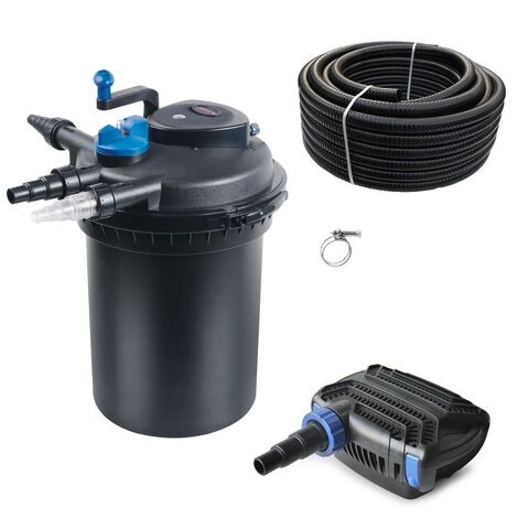 Druckteichfilter Set CPF 10000 mit 20W Eco Pumpe 10m Schlauch bis 12.000l Nr.18