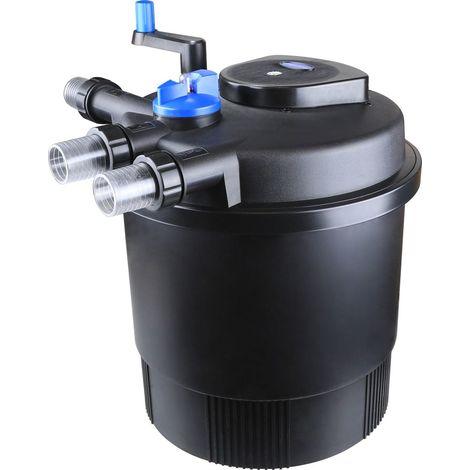 Druckteichfilter Set CPF 20000 mit 80W Eco Pumpe 10m Schlauch bis 40.000l Nr.23