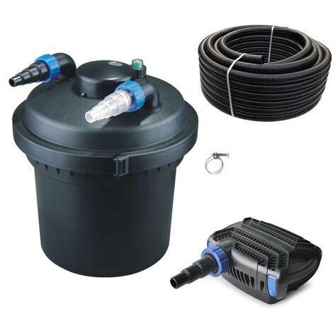 Druckteichfilter Set CPF 280 mit 16W Eco Pumpe 10m Schlauch bis 8.000l Nr.10