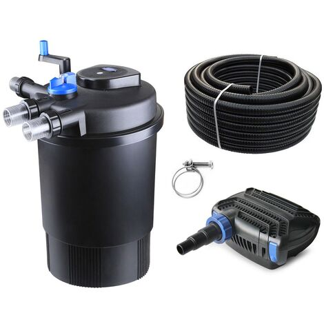 Druckteichfilter Set CPF 30000 mit 38W Eco Pumpe 10m Schlauch bis 60.000l Nr.24